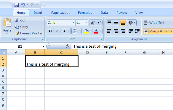 Merging cells in Excel Using Apache POI